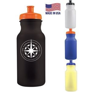 20 Oz. Colored Bike Bottle w/Push Spout